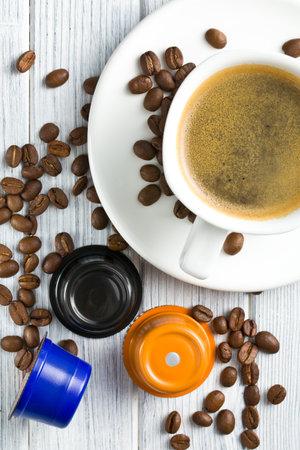 tabel: espresso capsules on kitchen tabel