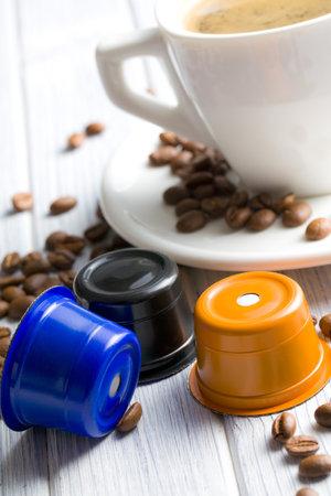 stimulating: espresso capsules on kitchen tabel