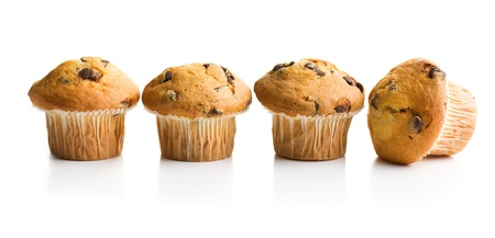muffin with chocolate on white background Stock Photo - 15899566
