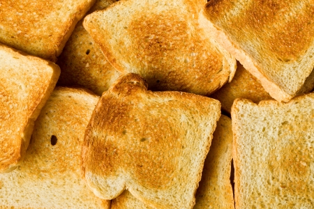the heap of toasted bread photo