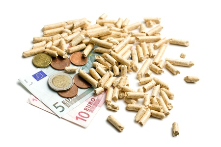 the wood pellets as ecological and economical heating Stock Photo - 16215413