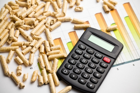 the wood pellets as ecological and economical heating Stock Photo - 16215467