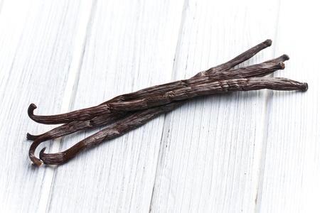 vanilla: vanilla pods on kitchen table