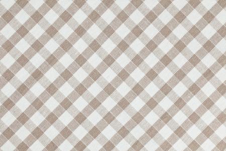 manteles: Foto tiro de tela a cuadros de color beige. Mantel textura