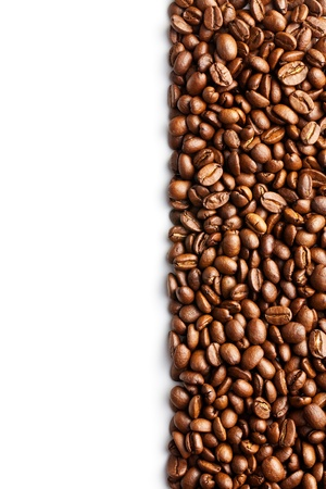 coffee beans pattern with white space Stock Photo - 17576181