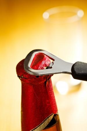 opener: opening beer bottle with opener