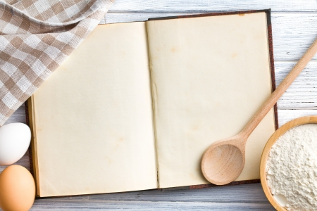 the old blank recipe book  photo