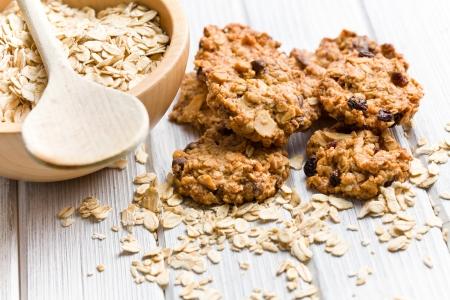 zoete zelfgemaakte cookie met havervlokken