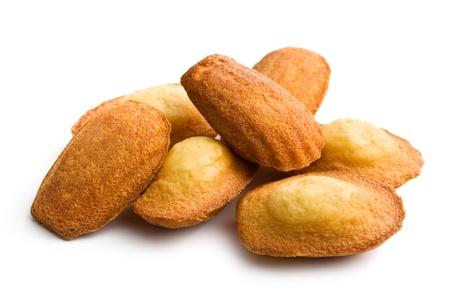 madeleine: madeleine cookies on white background
