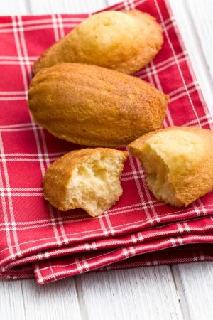 madeleine: sweet madeleine cookies on table