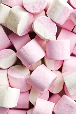 spongy: photo shot of sweet marshmallows