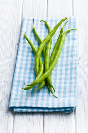 the green beans on kitchen table Stock Photo - 21678999