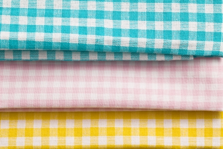 the various checkered kitchen towels photo