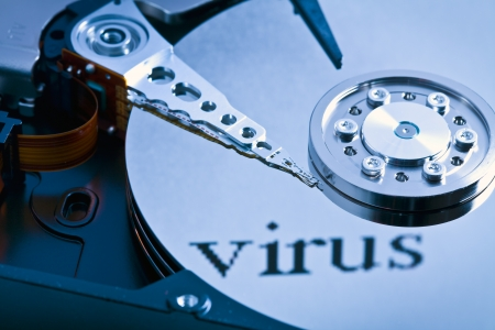 close up of hard disk virus photo