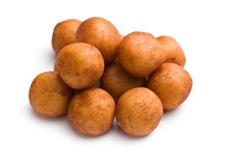 marzipan: marzipan balls on white background Stock Photo