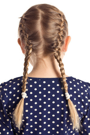 little girl with pigtails 版權商用圖片