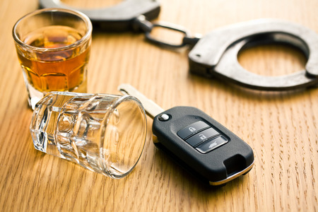 the concept for drink driving Stok Fotoğraf