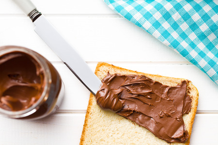 hazelnuts: the chocolate spread with bread