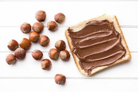 sandwich spread: the chocolate spread with bread