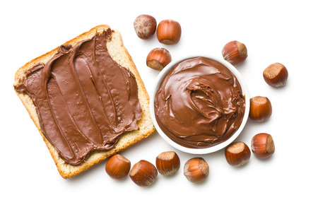 the chocolate spread with bread