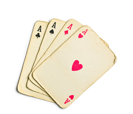 four aces on white background photo