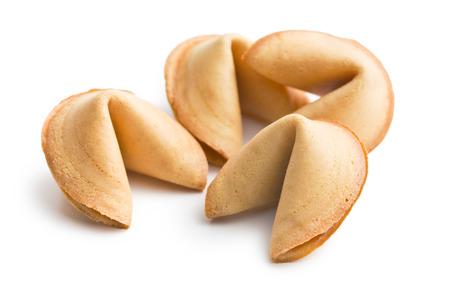 furtune cookie on white background photo