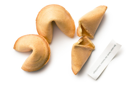 fortune cookie: top view of fortune cookie