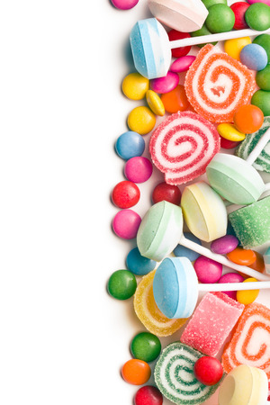 lollipop: colorful candy on white background
