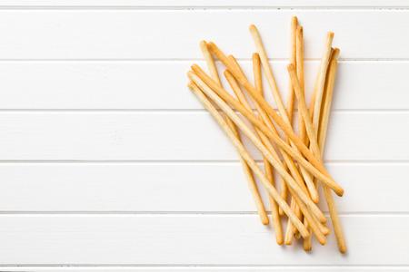 breadsticks: vista superior de palitos de pan grisines