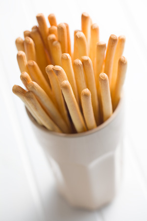 grissini: breadstick grissini in cup Stock Photo