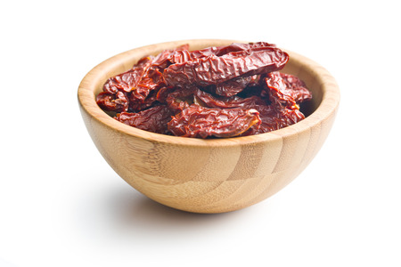 domates: sun dried tomatoes on white background