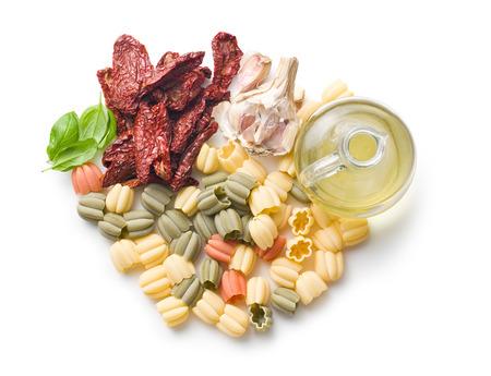 italian food ingredient on white table