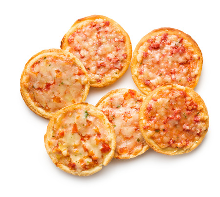 mini pizza: mini pizza on white background