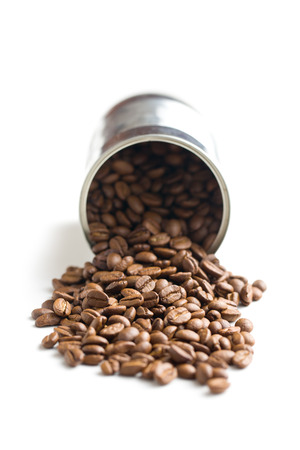 tin can: the coffee beans in tin can