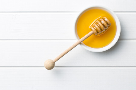 gold colour: top view of sweet honey