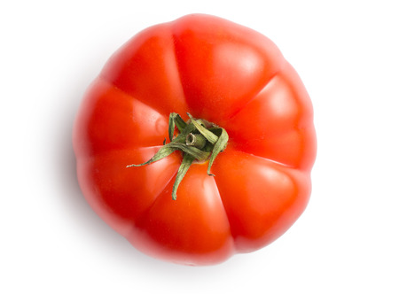 tomate rouge sur fond blanc Banque d'images