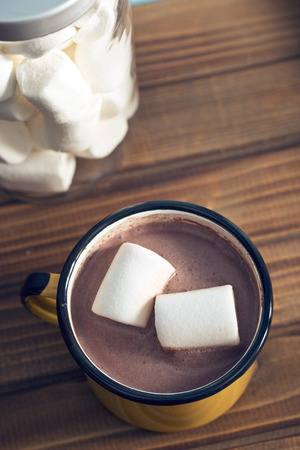 marshmallows: the cocoa drink with marshmallows