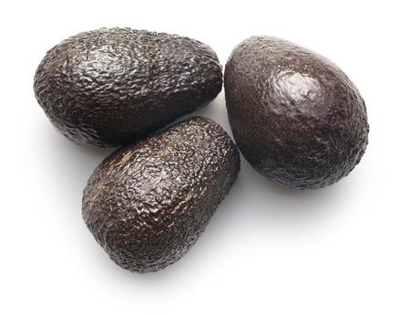 avocados: whole avocados on white background