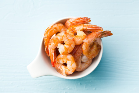 grilled prawns in a bowl photo