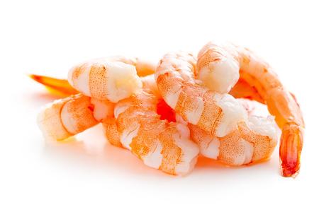 tiger shrimp: tasty prawns on white background