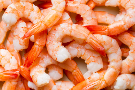 top view of tasty prawns