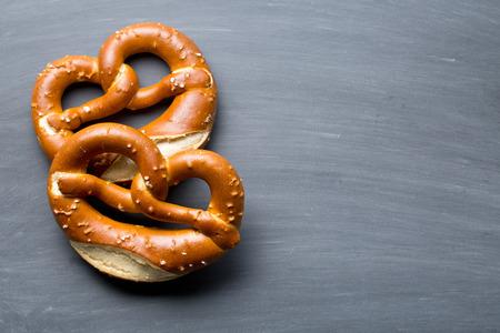 pretzels: the baked pretzel on a chalkboard