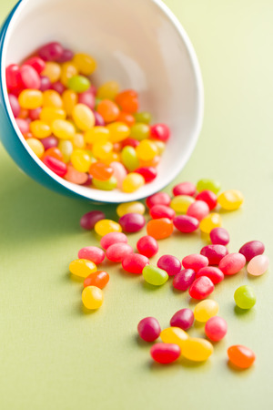 jelly beans: jelly beans on green table