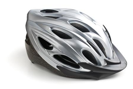 fietshelm op witte achtergrond