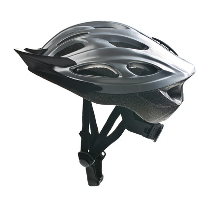 bicycle helmet: bicycle helmet on white background Stock Photo