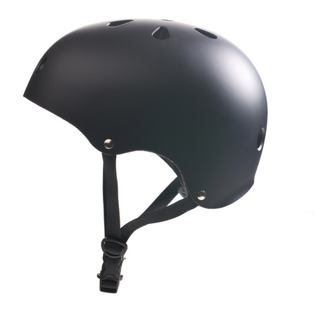 fiets helm op een witte achtergrond Stockfoto