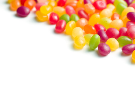 jelly beans: jelly beans on white bakground