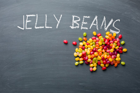 jelly beans: the jelly beans on chalkboard