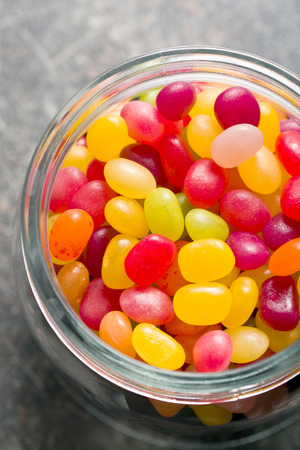 jelly beans: the jelly beans in jar Stock Photo