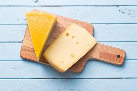 queso: vista superior de queso edam